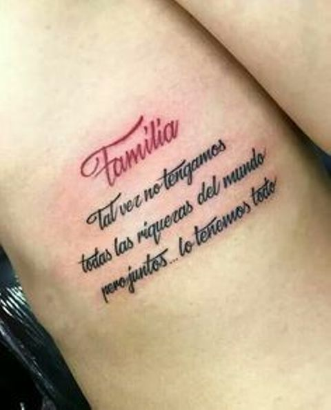 familia con frases 2 - tatuajes de familia