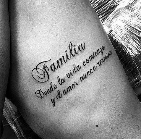familia con frases 5 - tatuajes de familia