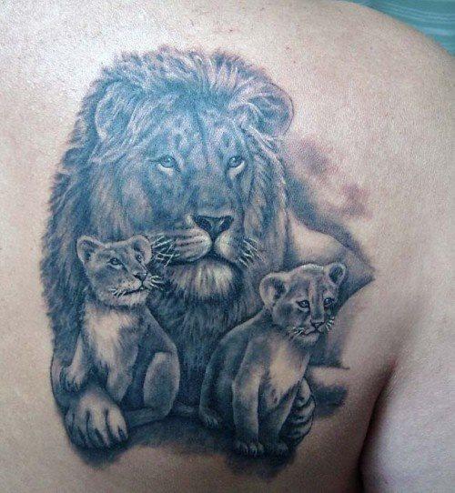 familia de leones 1 - tatuajes de familia