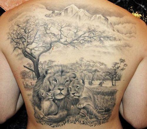 familia de leones 2 - tatuajes de familia