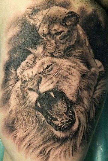 familia de leones 4 - tatuajes de familia