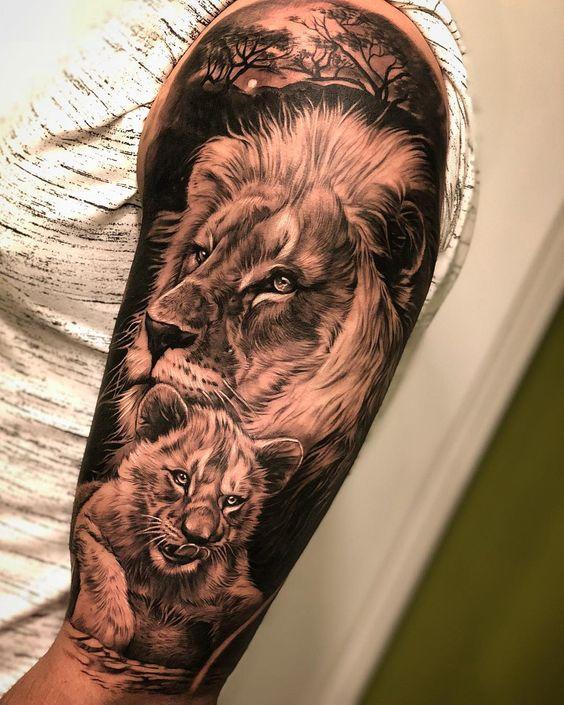 familia de leones 5 - tatuajes de familia