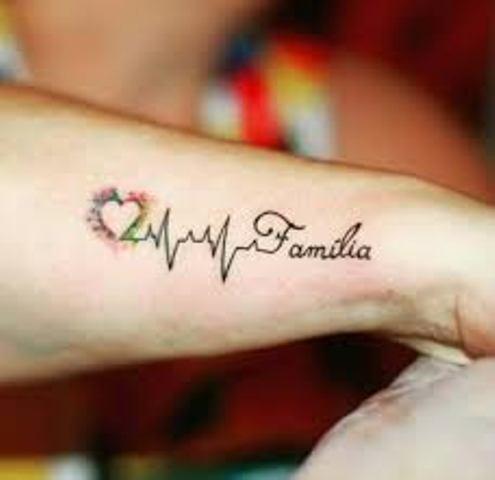 familia en el brazo 2 - tatuajes de familia