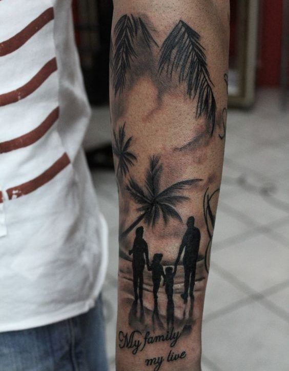 familia unida - tatuajes de familia