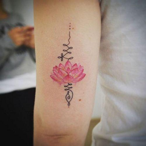 unalome con flor de lotto 3