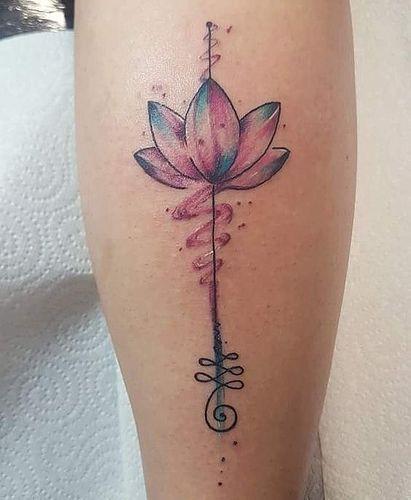 unalome con flor de lotto 4