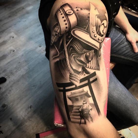 samurais en brazo 1 - tatuajes de samurai