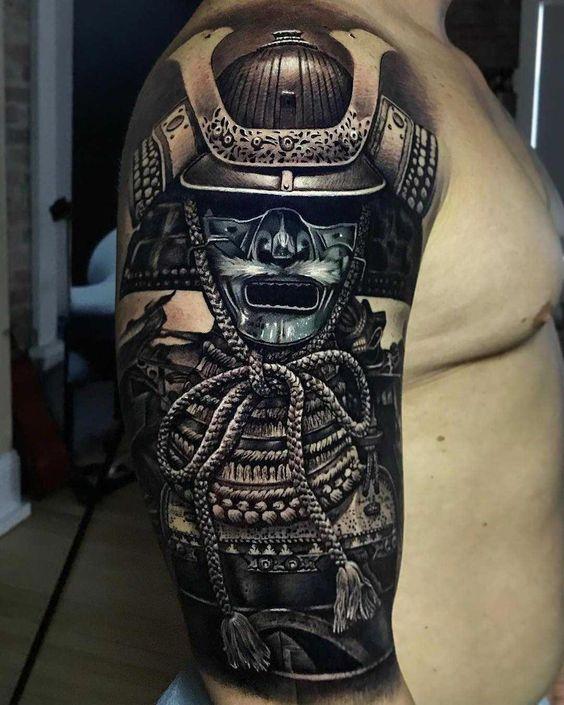 samurais en brazo 2 - tatuajes de samurai