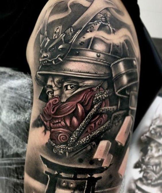samurais en brazo 4 - tatuajes de samurai