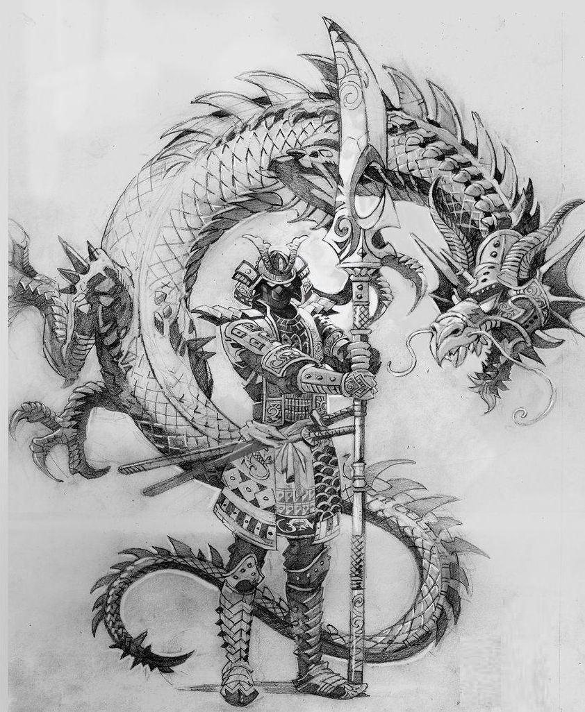 samurais y dragones 2 - tatuajes de samurai