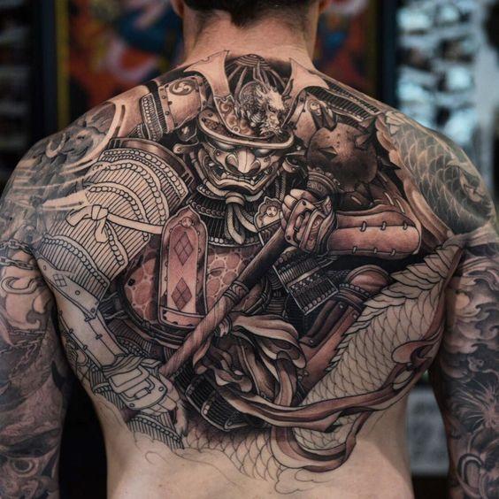samurais y dragones 3 - tatuajes de samurai