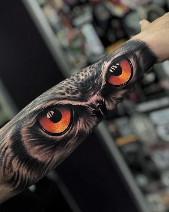 ojos de buho 4 - tatuajes de ojos