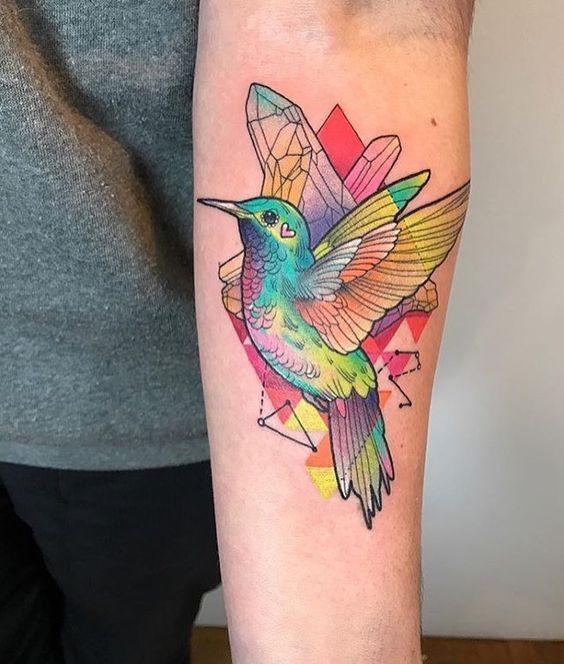 acuarela colibris 1