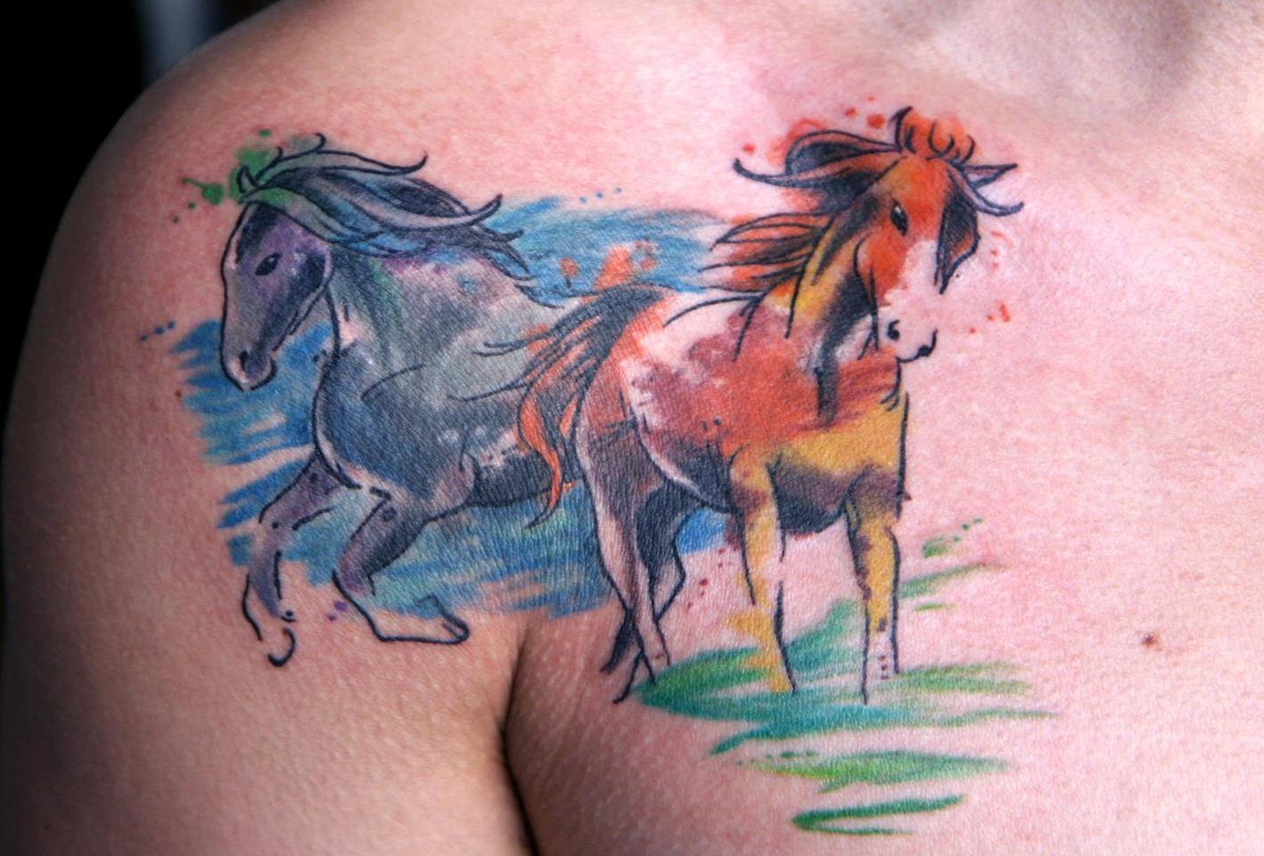 acuarela - tatuajes en acuarela