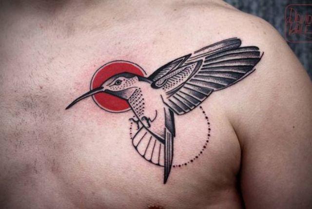colibri para hombres 5 - tatuajes de colibrí