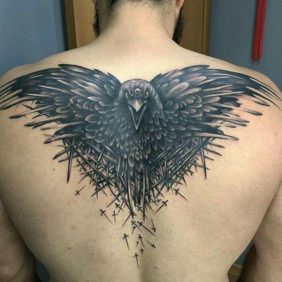 tatuajes de aguila en la espalda 1