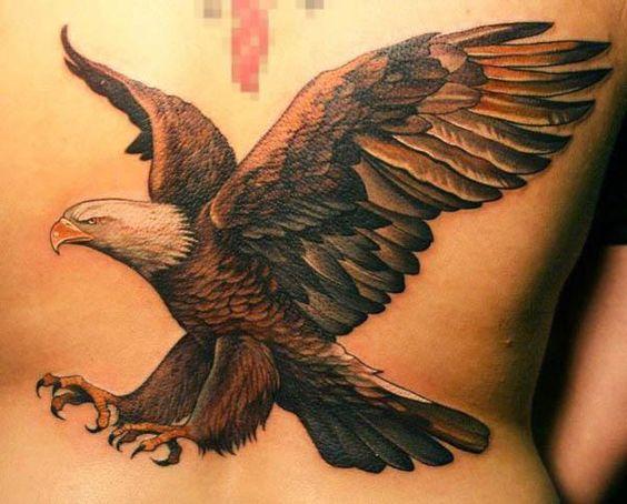 tatuajes de aguila en la espalda 4