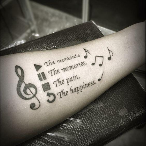 tatuajes notas musicales para hombres 4