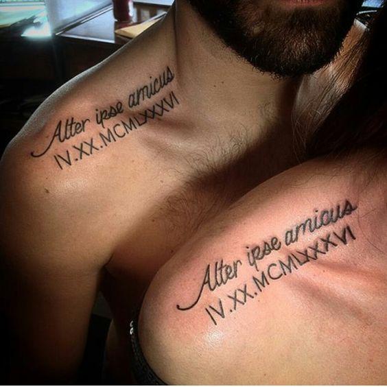 tatuajes para parejas en la clavicula 1