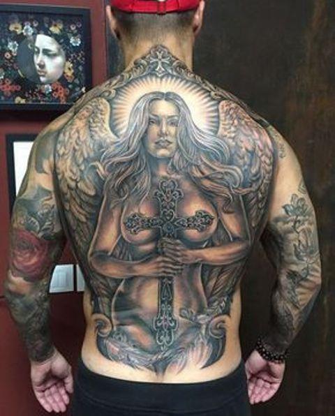 tatuajes religiosos espalda 3