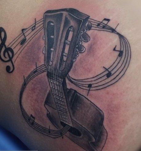 guitarras y notas musicales 4 1