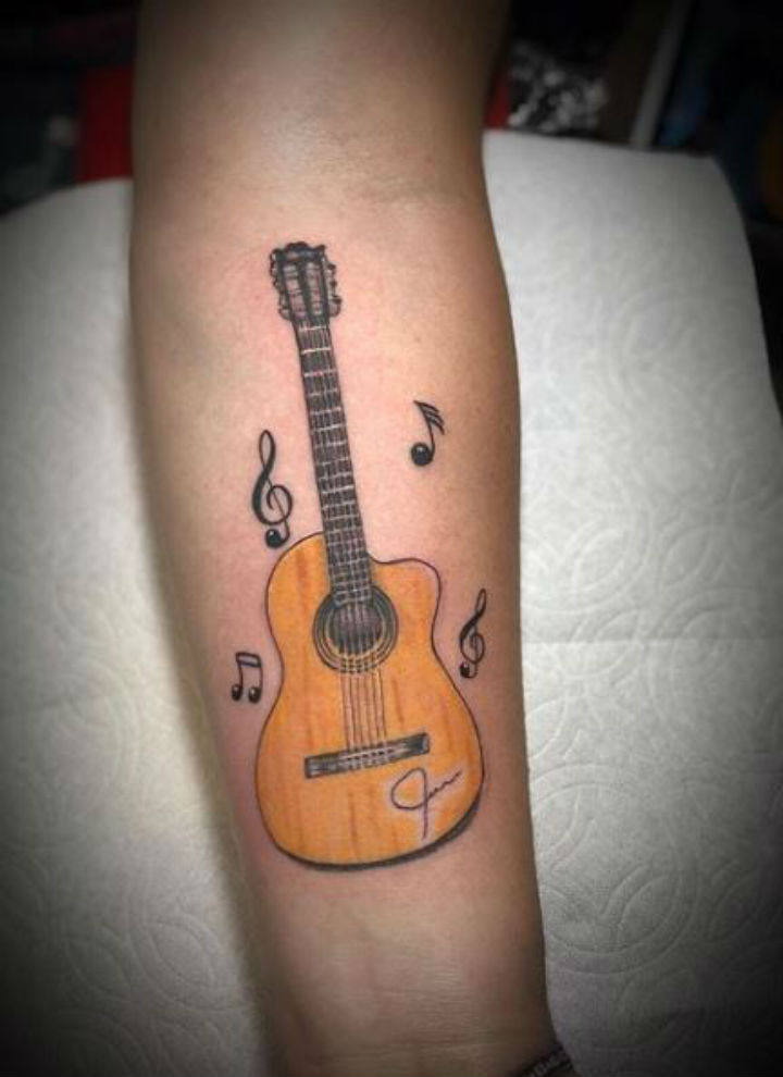 guitarras y notas musicales 6 1