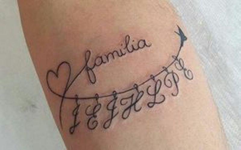 hijos y familia 2 - tatuajes de iniciales