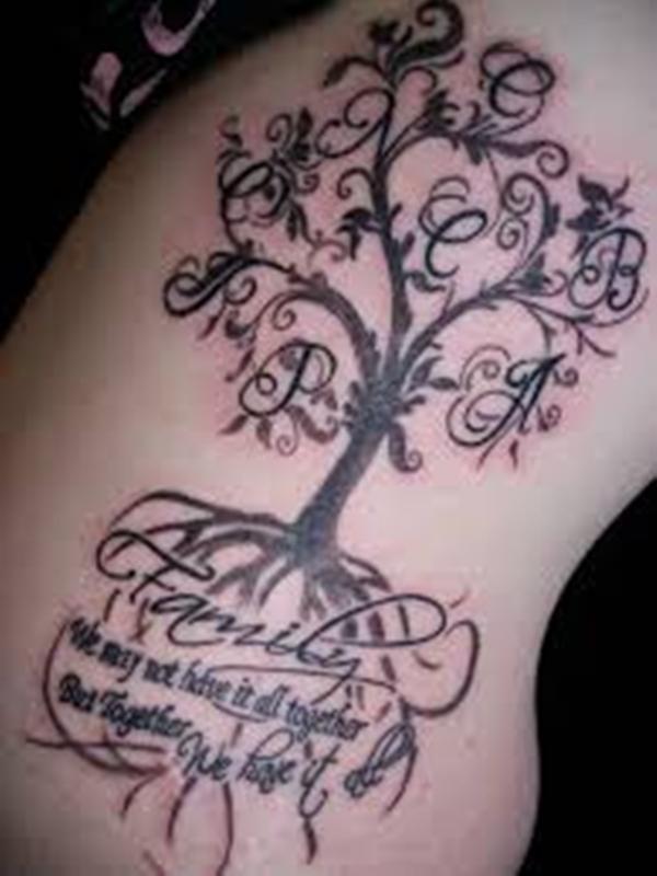 hijos y familia 4 - tatuajes de iniciales