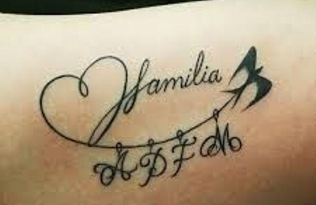 hijos y familia 6 - tatuajes de iniciales