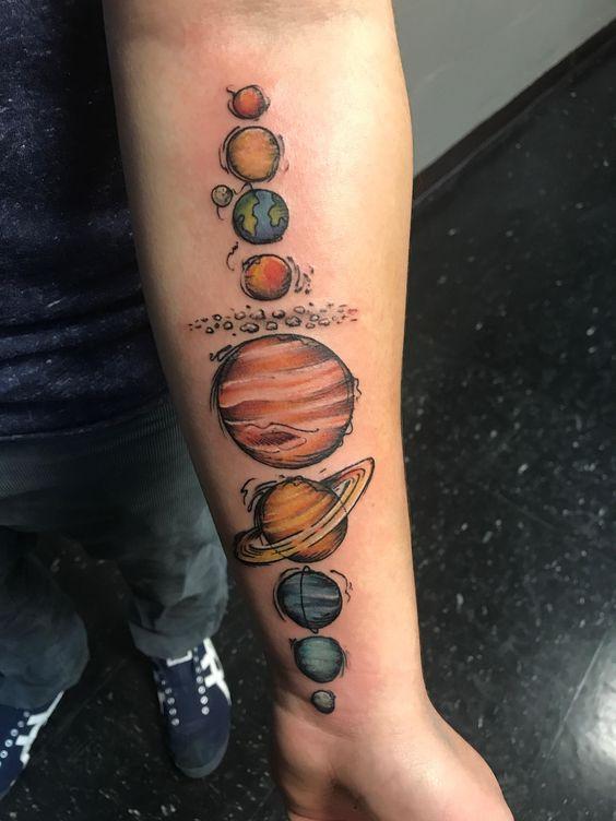 los planetas 1 1 - tatuajes de planetas