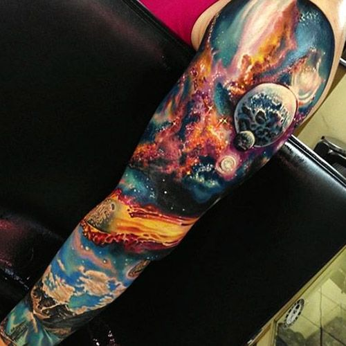 para hombres 4 - tatuajes de planetas