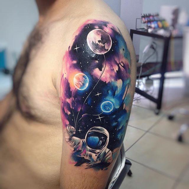 planetas y galaxias 3 - tatuajes de planetas