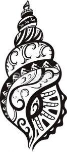 tatuaje maorie conchas 133x300