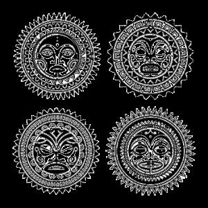 tatuaje maorie el sol - tatuajes maories